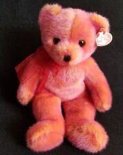 "14"" TY Classic Rouge Orange Red Pink Stuffed Teddy Bear Plush 2001 Floppy"