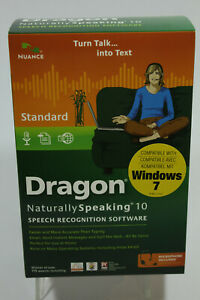 DRAGON Naturally Speaking 10 Standard Speech Recognition Software