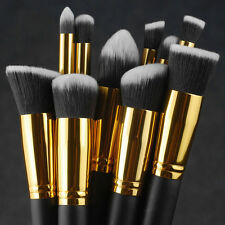 Lot 10Pcs Makeup Brushes Set Cosmetic Eyeshadow Face Powder Foundation Lip Brush