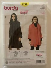 Burda Style Sewing Pattern 6737 - Jacket Cost Shawl Wrap Super Easy Sizes 8-20