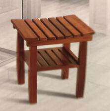 Solid-Teak Spa Bench with Shelf