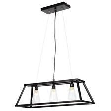 Pagazzi Hanging Ceiling Light Kitchen Island Matt Black Industrial Feel At Home