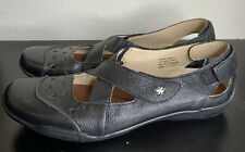 Ros Hommerson CARRIE Black Leather Comfort Shoes Womens Size 8.5 N Narrow Casual
