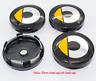 Satz 4x 60mm Smart Fortwo ForFour Schwarz Basis Nabenkappen Radkappe Yellow Gelb