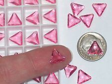 10pc Vintage Crystal SWAROVSKI Triangle lot Rhinestone unfoiled no hole 10mm PK