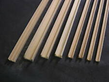"""Groove Edge Molding 1/16"""" - dollhouse - Channel molding fits .0625"""" 1pc Basswood"""