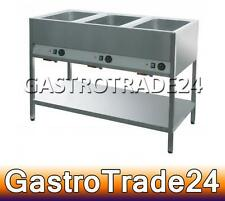Bain Marie 3x GN 1/1 1200 x 600 x 900 mm d'occasion