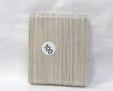 Emery Board Natural Real Nail File 100 Grit 50ct /pk ~small 3 1/2 inches ~