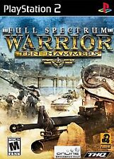 FULL SPECTRUM WARRIOR: TEN HAMMERS (SONY PLAYSTATION 2 VIDEO GAME, 2006) PS2