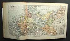 1893.Mappa Geografica della PRUSSIA - PREUSSEN ..MEYERS Scala 1:3400000 cm 42x25