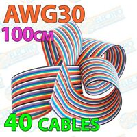 Cinta de cable plano AWG30 - 40 cables - Lote 100cm - Arduino Electronica DIY