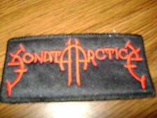 SONATA ARCTICA,SEW ON RED EMBROIDERED PATCH