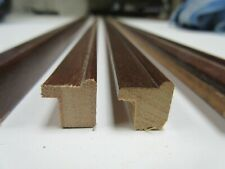 4 x 1m lengths (4m) Small Narrow Walnut Wooden Picture Frame Moulding 12mm wide