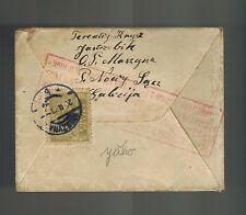 1921 Muszyna Poland Postcard Cover to USA  registered