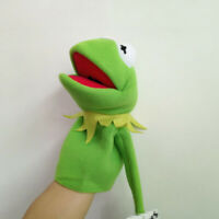 The Muppet Show Plush Kermit The Frog Hand Puppet 40cm Rare Toy Cute Fun Gift
