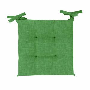 Funda para Silla 6 Cojines Silla Cordones Color Liso Mezcla Verde Oscuro Algodón