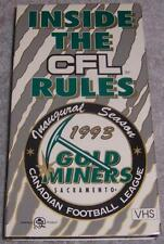 Inside CFL Rules Inaugural Season Canadian Football League 1993 Sacramento Gold