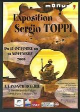 Sergio Toppi : cartolina invito a Mostra - realizzata in Francia nel 2005