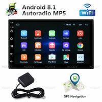 "7"" 2 DIN Android 8.1 Autoradio Stereo Lettore MP3 Bluetooth USB GPS WiFi 1+16GB"