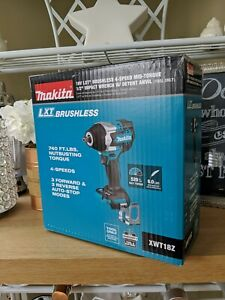 NEW Makita XWT18Z Cordless Brushless 1/2 Impact Wrench 4 Speed 18v Mid Torque