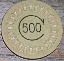 ORIGINAL GAMING CHIP USED AT SKINNY D'AMATO'S FAMOUS 500 CLUB IN ATLANTIC CITY