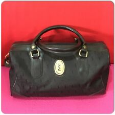 eec4fdef3b93 Vintage Yves Saint Laurent YSL Black Satchels Bowling Monogram Hand Bag
