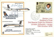 More details for signed gb flight cover british caledonian airways boeing 707-320 1976 ok7