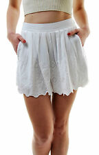 Free People Women's Authentic Azalea Eyelet Short White Size 4 RRP £68 BCF66