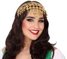 SERRE TETE Pièce Dorée JASMINE Déguisement Femme Arabe Danseuse NEUF pas cher