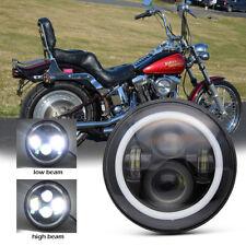 "For Yamaha V-Star XVS 650 1100 Classic Silverado 7"" LED Halo Daymaker Headlight"