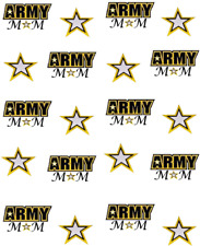 Army  Mom Waterslide Nail Decals/ Nail Art