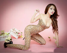 f5e420bf9d0 Sexy Open Crotch Crotchless Leopard print Bodystocking Lingerie fun 107
