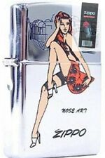 Zippo 6883 nose art pinup girl Lighter + FLINT PACK