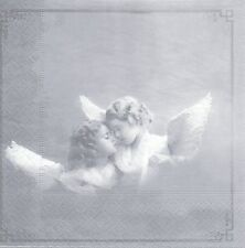 2 Serviettes en papier Deux Anges Paper Napkins Two Angels Sagen Vintage