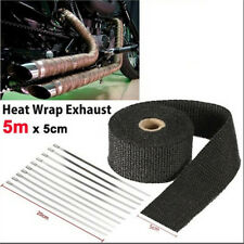 Black 5m Exhaust Heat Wrap Turbo Pipe Heat Insulated Wrap for Car Motorcycle JR
