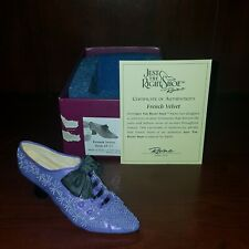 Just The Right Shoe Nib Item #25162 French Velvet Year 2001 Resin Figurine F276
