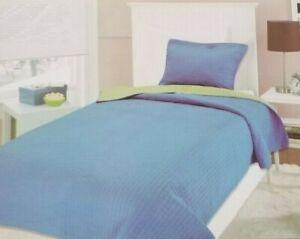 2 pc Melange Home Channel Stitch Reversible Twin XL Quilt and Sham Set NIP