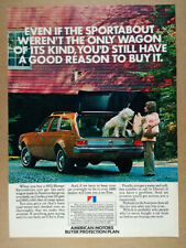 1972 AMC Hornet Sportabout Wagon photo vintage print Ad