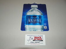 "DIXIE NARCO 501E & 276HV SODA VENDING MACHINE ""Aquafina"" 20oz BOTTLE VEND LABEL"