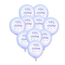 10pcs Baby Shower Etoiles Coeurs Ballons en Latex Pour Décorations Fête-Bleu