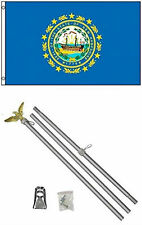3x5 State of New Hampshire Flag Aluminum Pole Kit Set 3'x5'
