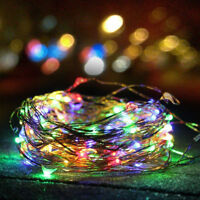 Outdoor Solar Powered 100 LED 10M 33Ft Copper Wire Light String Fairy Xmas Party