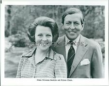 1980 Crown Princess Beatrix and Prince Claus Original News Service Photo