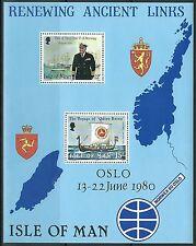 Isle of Man - Besuch von König Olav V Block 4 postfrisch 1980 Mi. 156+172