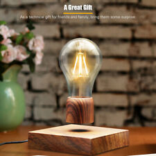 Magnetic Levitating Floating Table Lamp LED Bulb Night Light w/TouchSwitch H2T1