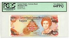 Cayman Islands … P-15 … 100 Dollars … 1991 … *UNC*  PCGS 64.  PPQ.