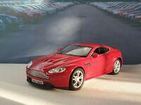 PERSONALISED ASTON MARTIN VANTAGE RED 1.38 MODEL CAR NEW BOYS TOYS BIRTHDAY GIFT