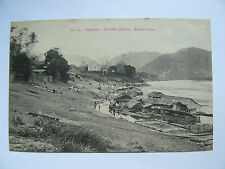 CPA TONKIN Tuyen-Quang Rivière Clair Indochine Vietnam Old PostCard Port Bateau