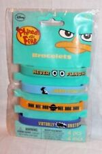 NEW IN PACKAGE PHINEAS AND FERB  1-PKG OF 4 BRACELETS PARTY SUPPLIES