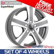 "4 x 17"" Fiat Ducato SuperMetal 'Hammer' Grey Polished Alloy Wheels - PCD 5x118"